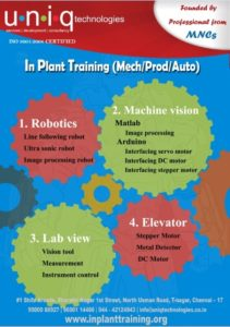 Inplant Traning for Mechanical Engineering