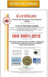 ISO certificate uniq